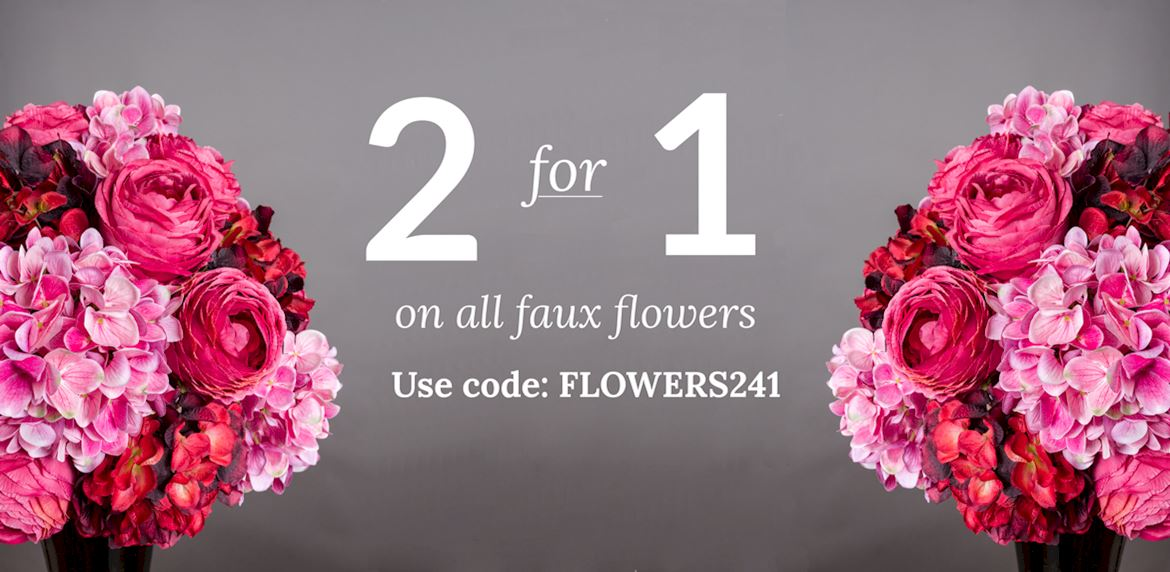 2 for 1 on flowers use code FLOWERS241