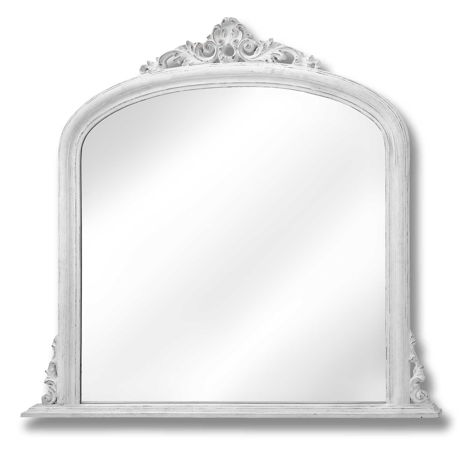 Antique White Over Mantel Mirror From Baytree Interiors