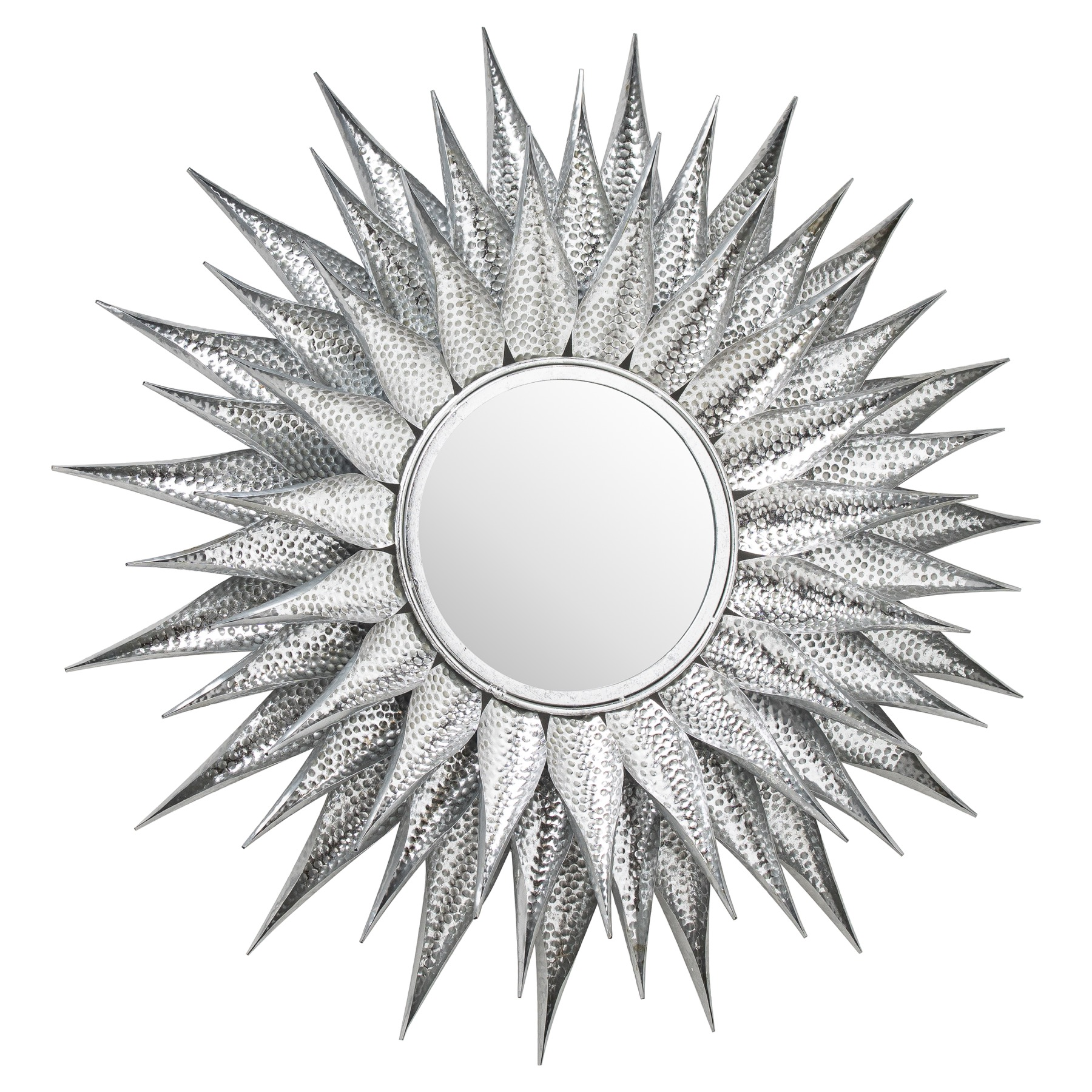Ohlson Silver Large Sunburst Mirror From Baytree Interiors