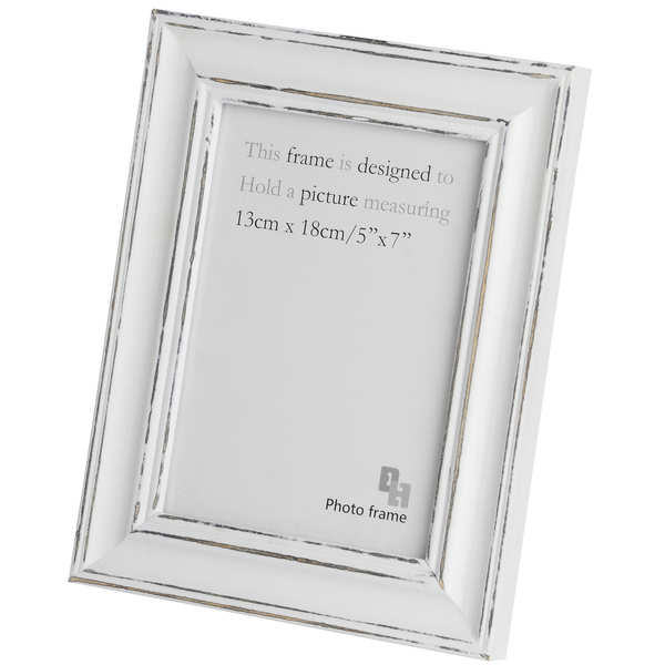 5 X 7 Antique White Photo Frame