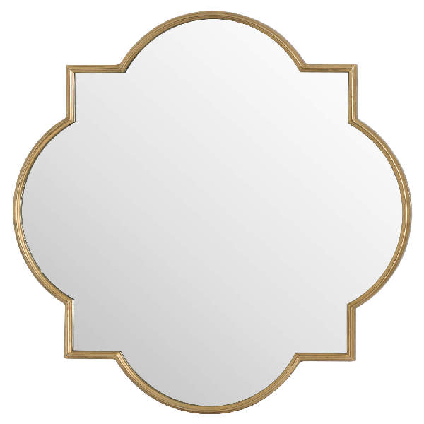 Antique Gold Quarterfoil Mirror