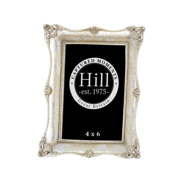Antique Metallic Silver  Decorative Photo Frame 4X6