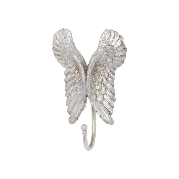 Antique Silver Angel Wings Hook