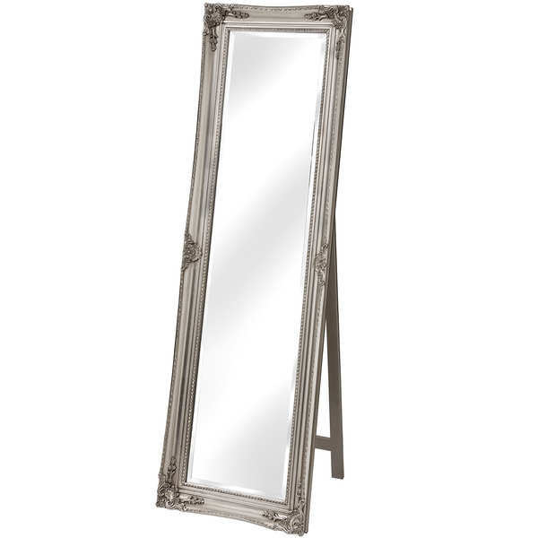 Antique Silver Cheval Dressing Mirror