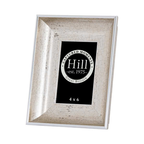 Antique Silver Crackled Effect Photo Frame 4X6