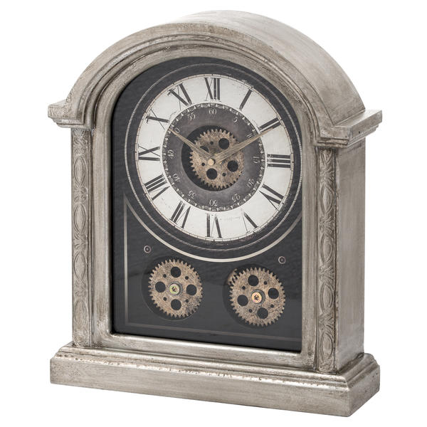 Antique Silver Mechanism Mantle Clock