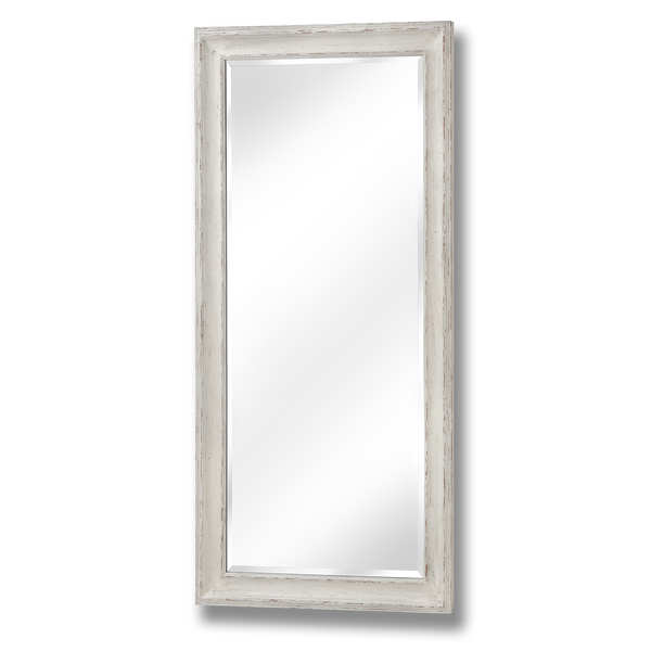 Antique White Large Frame Mirror