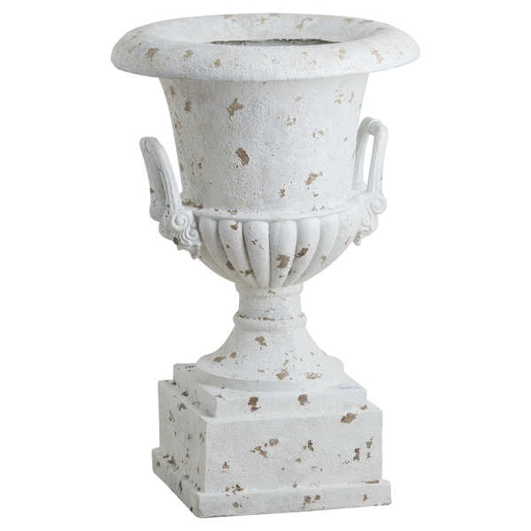 Antique White Large Outdoor Urn Planter