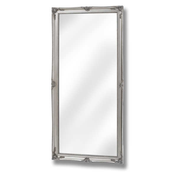 Baroque Antique Silver Full Length Mirror