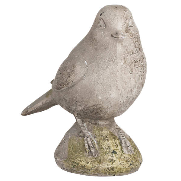 Bird Ornament in Aged Stone Finish