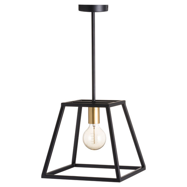 Black And Brass Piped Pendant Light