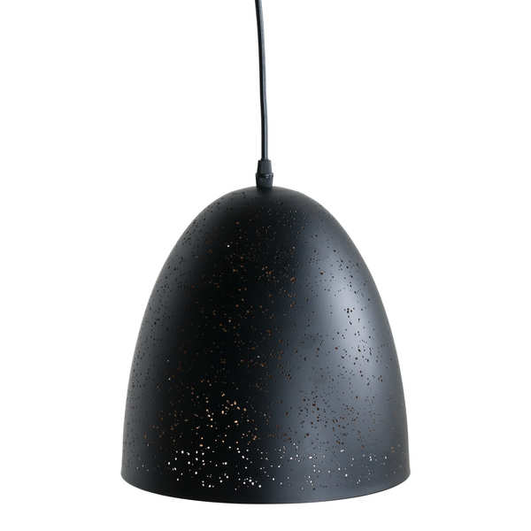 Black And Gold Pendant Light With Pitted Effect