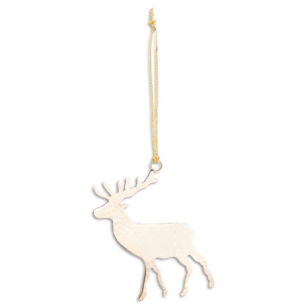 Brass Hanging Stag Decoration