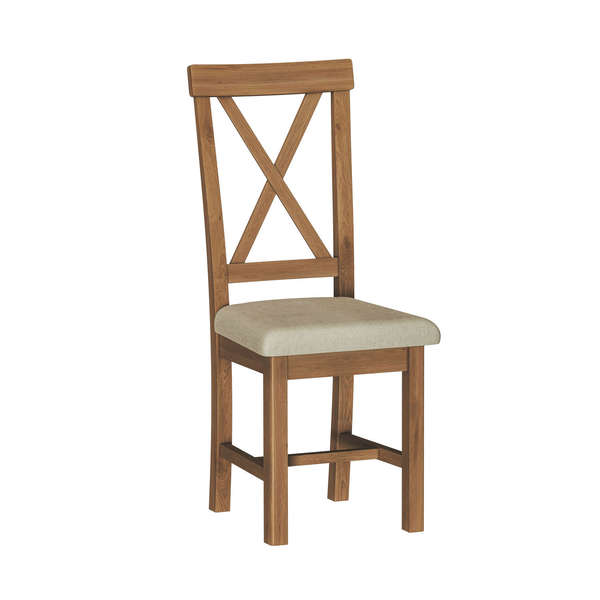 Brook Cottage Collection Upholstered Cross Back Chair