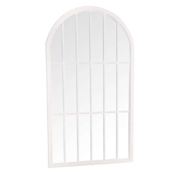Caselotti Mirror Collection Large Arched Window Mirror White