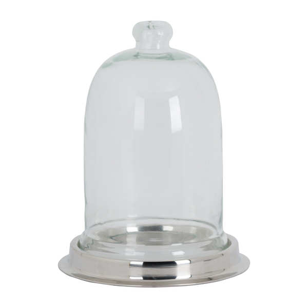 Cloche With Polished Nickel Base