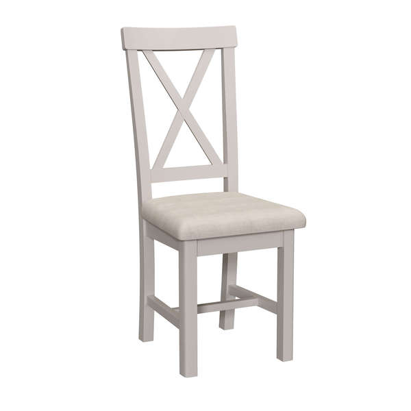 Dales Collection Upholstered Cross Back Chair
