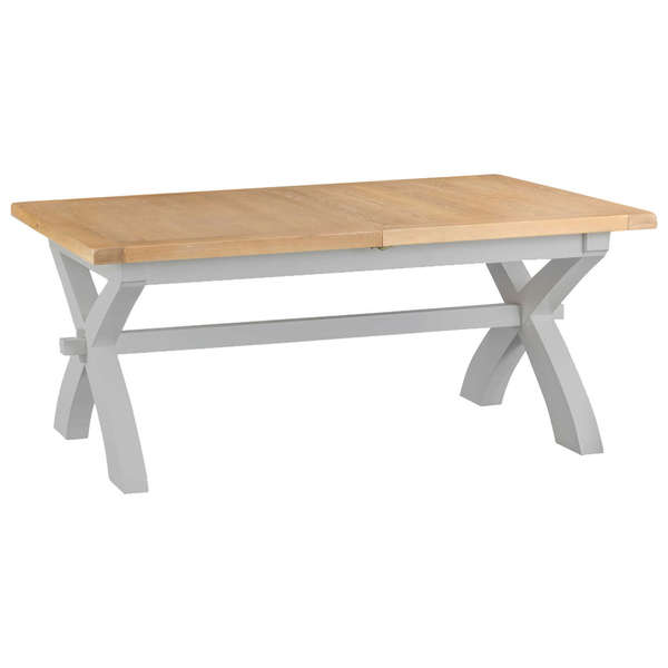 Easby Collection Grey 1.8M Cross Extending Table