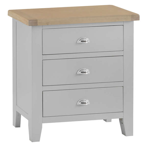 Easby Collection Grey 3 Drawer Chest of Drawers