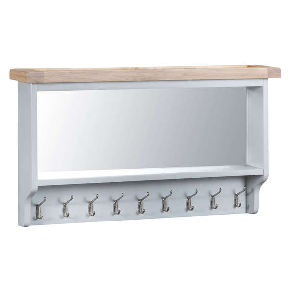 Easby Collection Grey Coat Rack with Mirror