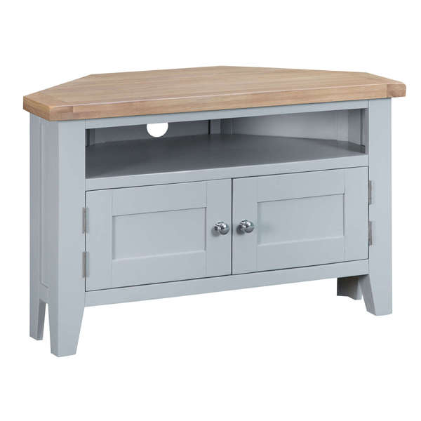 Easby Collection Grey Corner TV Unit