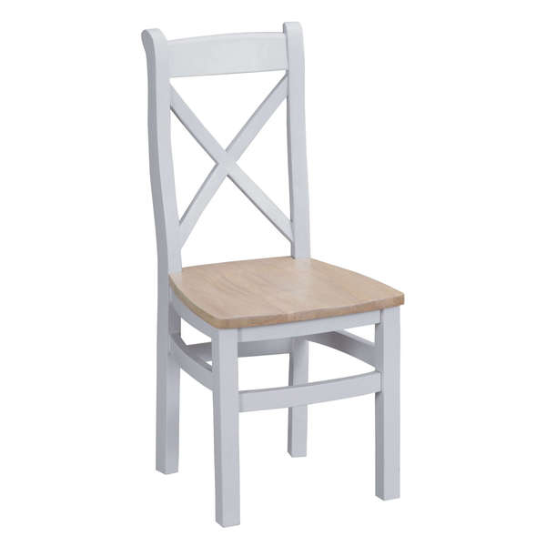 Easby Collection Grey Cross Back Chair