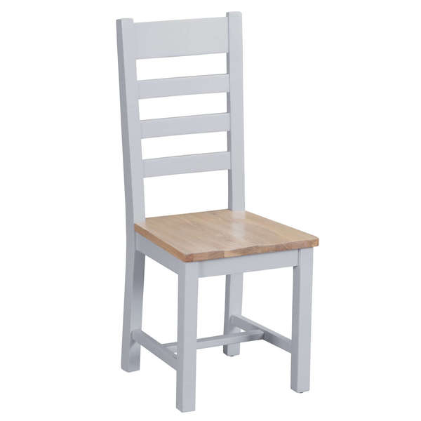 Easby Collection Grey Ladder Back Chair