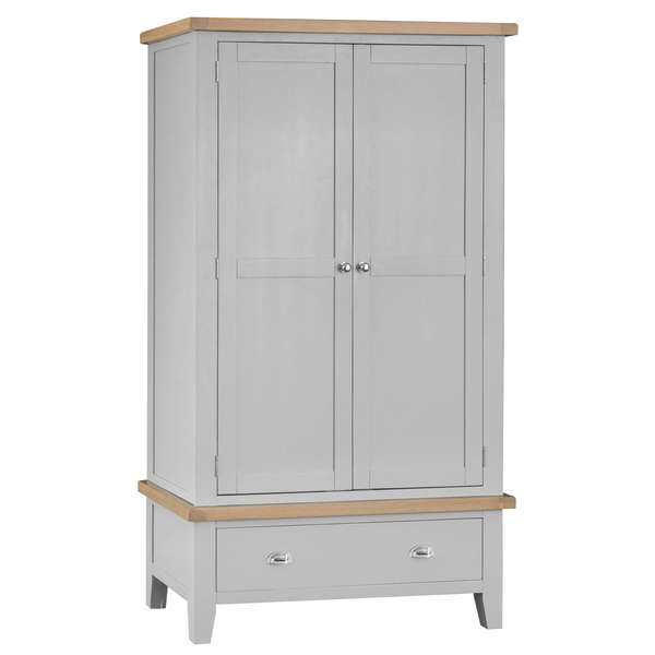 Easby Collection Grey Large 2 Door Wardrobe