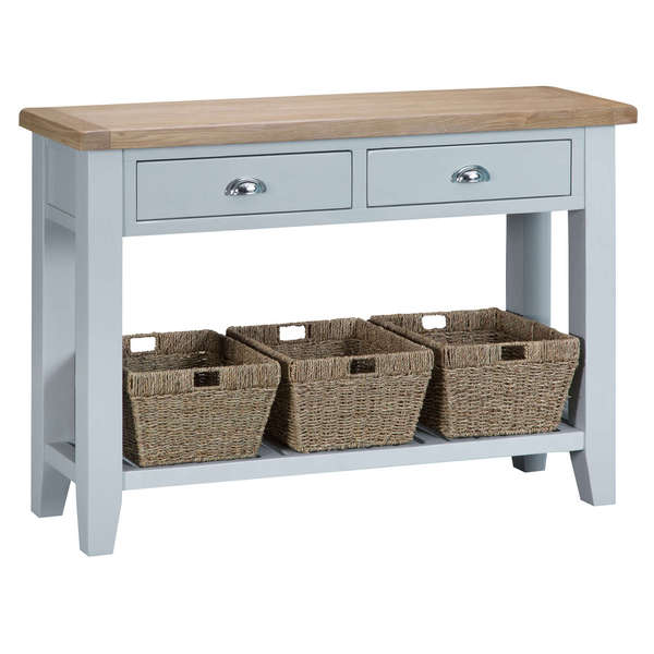 Easby Collection Grey Large Console Table