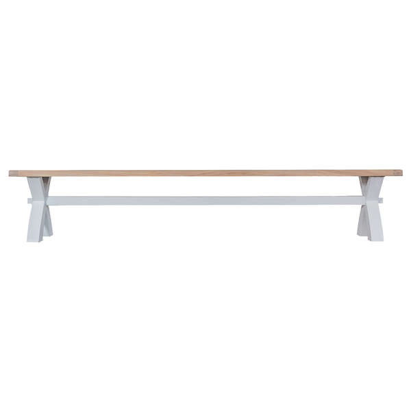 Easby Collection Grey Large Cross Bench