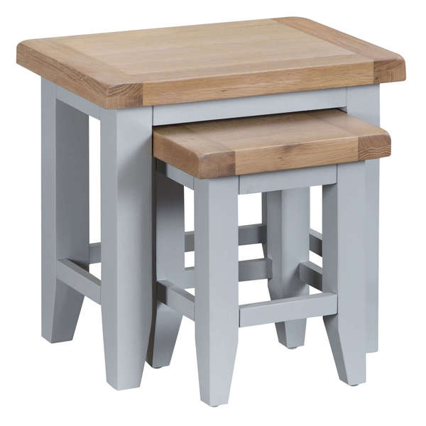 Easby Collection Grey Nest of 2 Tables