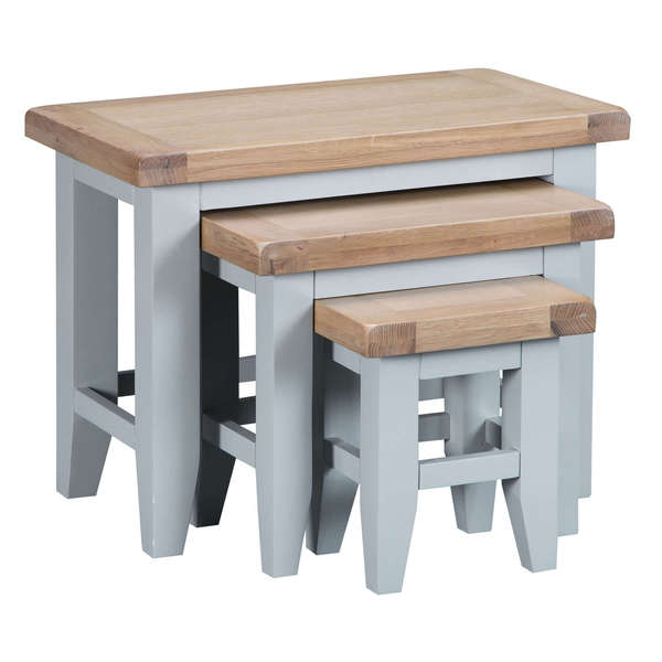 Easby Collection Grey Nest of 3 Tables