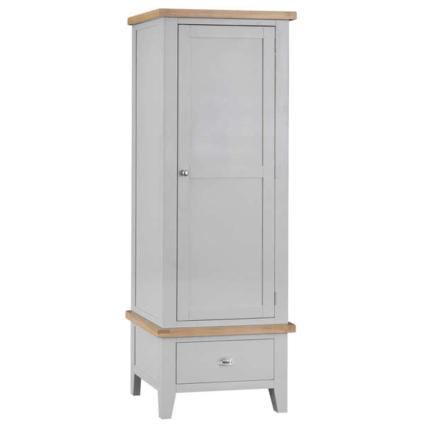 Easby Collection Grey Single Wardrobe