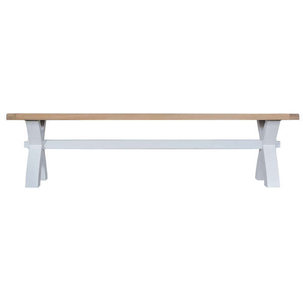 Easby Collection Grey Small Cross Bench