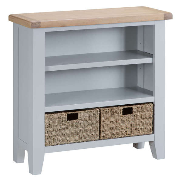 Easby Collection Grey Small Wide Bookcase