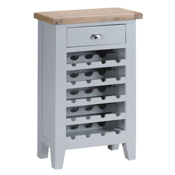 Easby Collection Grey Wine Cabinet