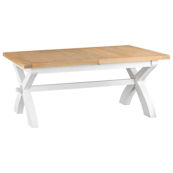 Easby Collection White 1.8M Cross Extending Table