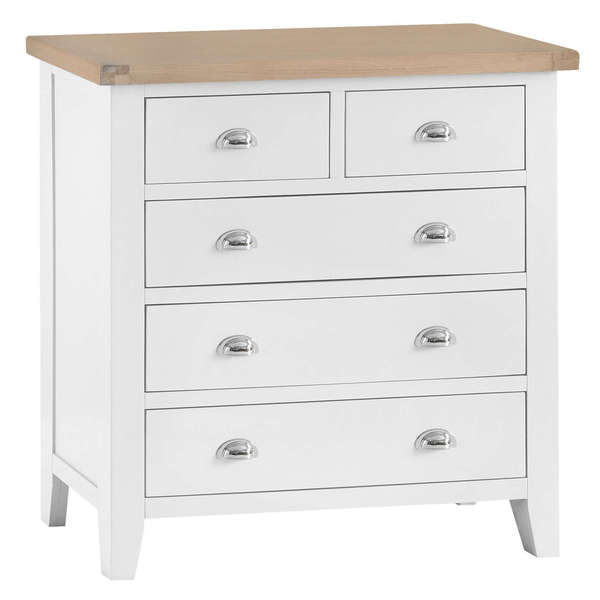 Easby Collection White 2 Over 3 Chest