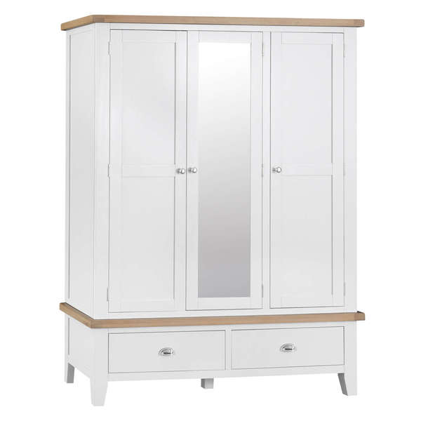 Easby Collection White 3 Door Wardrobe