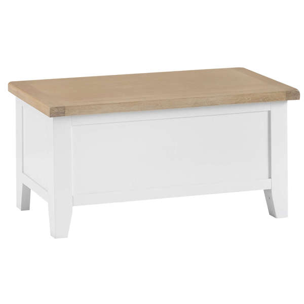 Easby Collection White Blanket Box