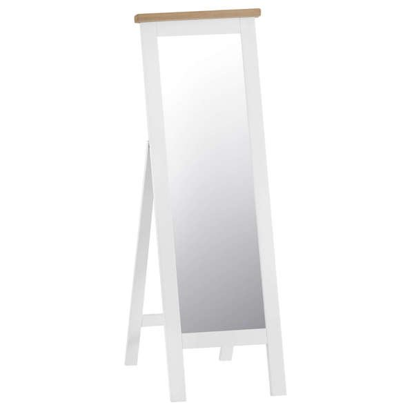 Easby Collection White Cheval Mirror
