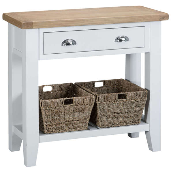Easby Collection White Console Table