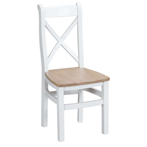 Easby Collection White Cross Back Chair