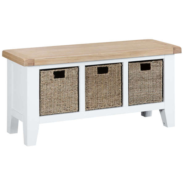 Easby Collection White Hall Bench