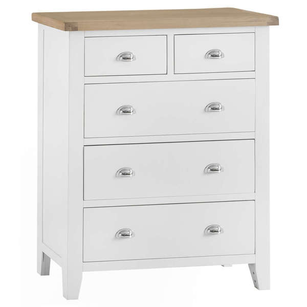 Easby Collection White Jumbo 2 Over 3 Chest