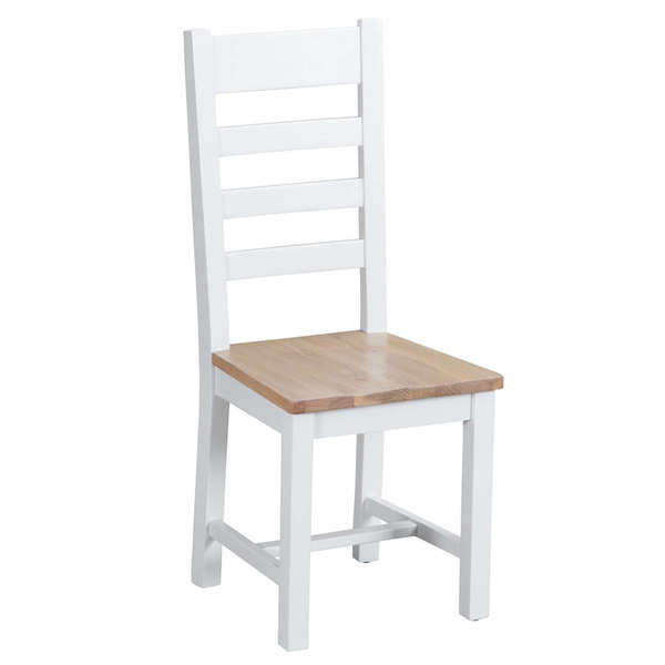 Easby Collection White Ladder Back Chair