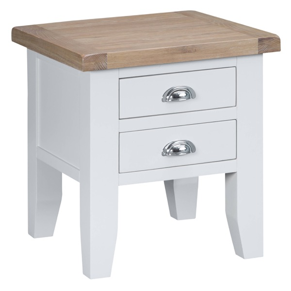 Easby Collection White Lamp Table