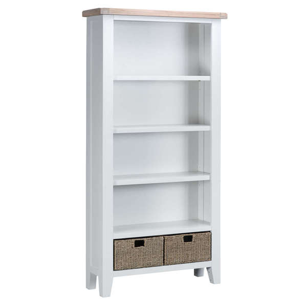 Easby Collection White Large Bookcase