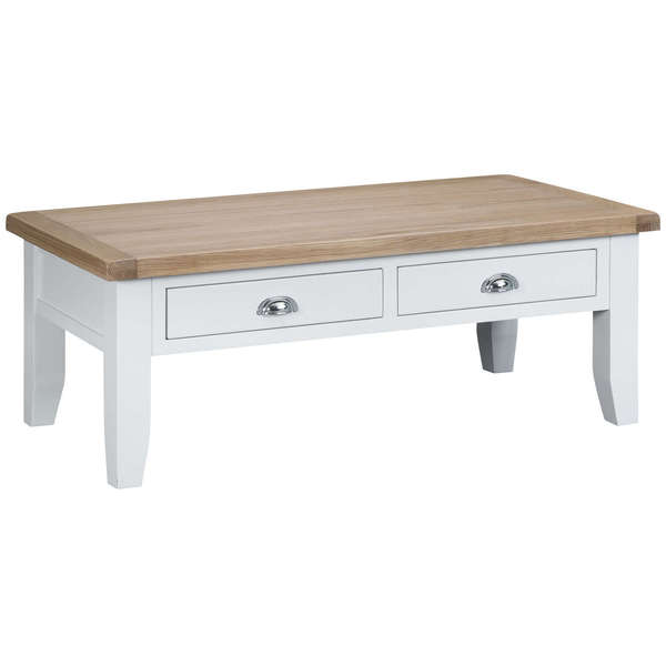 Easby Collection White Large Coffee Table