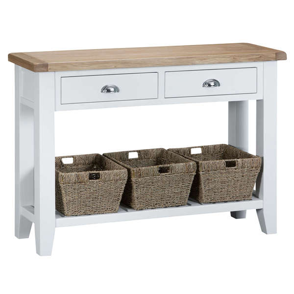 Easby Collection White Large Console Table